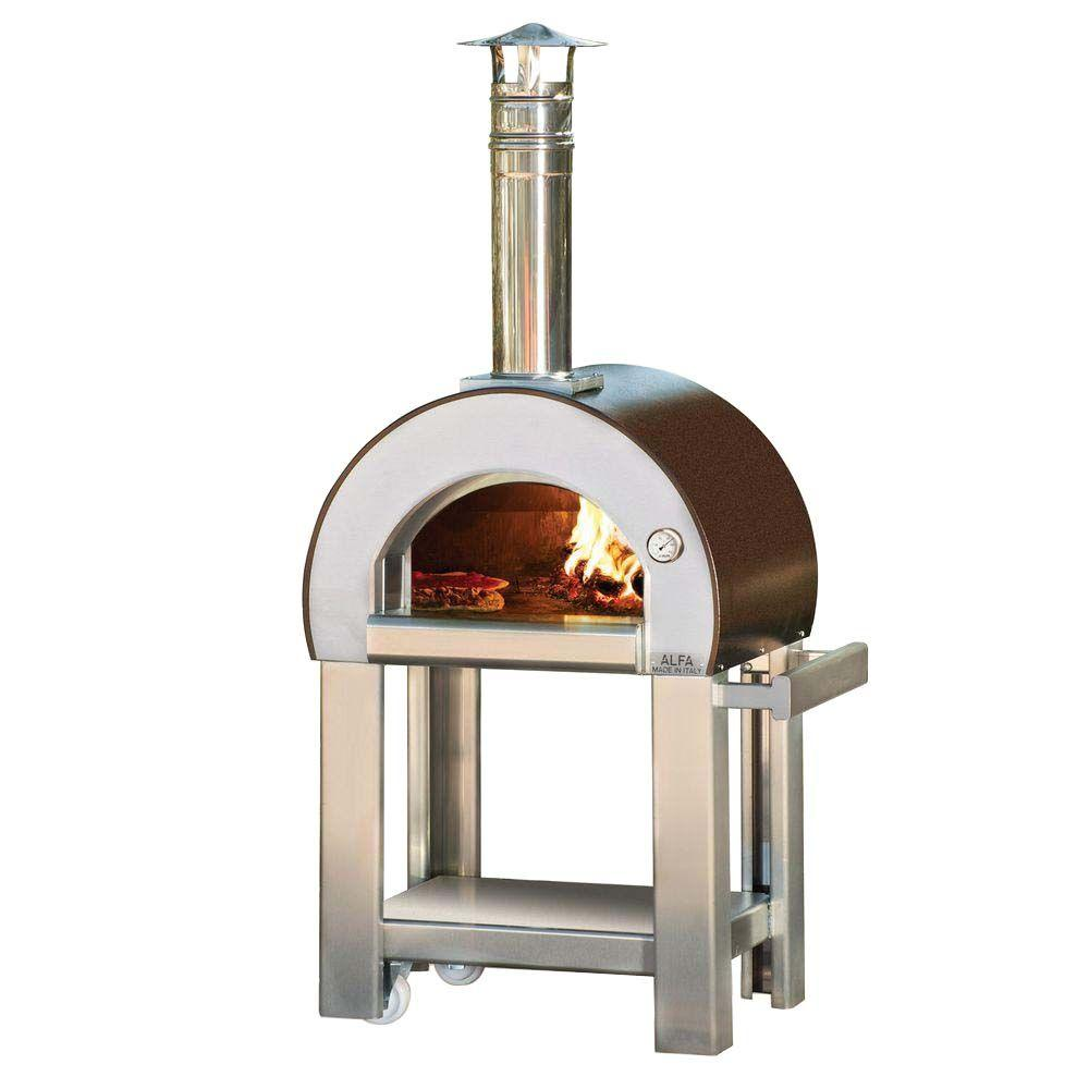 Alfa Pizza 23.6 in. x 19.7 in. Outdoor Wood Burning Pizza ...
