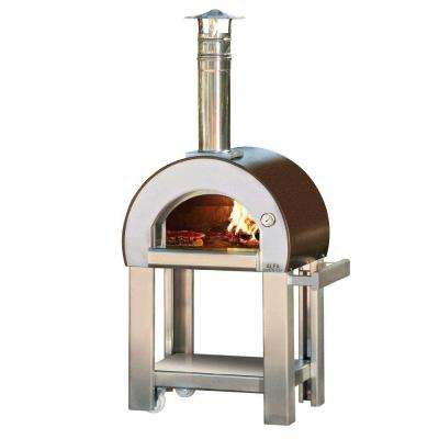 23.6 in. x 19.7 in. Outdoor Wood Burning Pizza Oven in Copper
