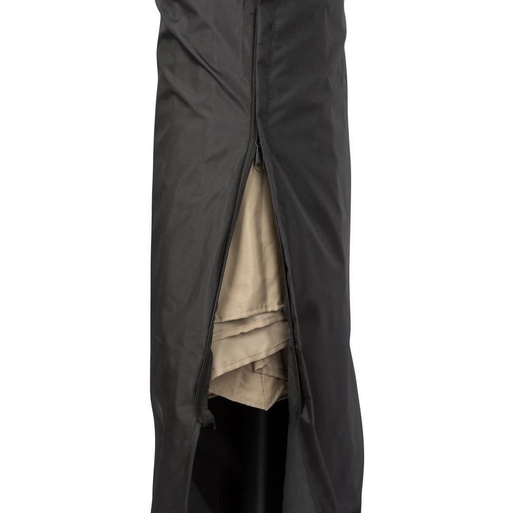 Black Offset Umbrella Cover for Trademark Innovations 10 ft. Offset Patio Umbrella