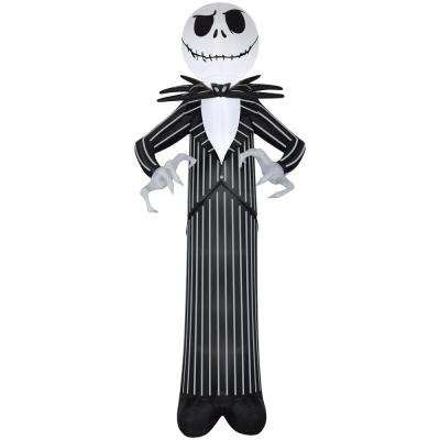 56.69 in. W x 51.97 in D x 144.09 in. H Inflatable-Jack Skellington