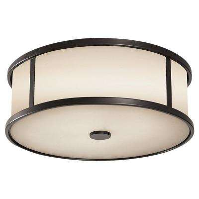 Dakota 3-Light Espresso Outdoor Ceiling Fixture