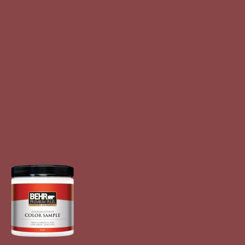 8 oz. #PPU1-10 Forbidden Red Flat Interior/Exterior Paint Sample
