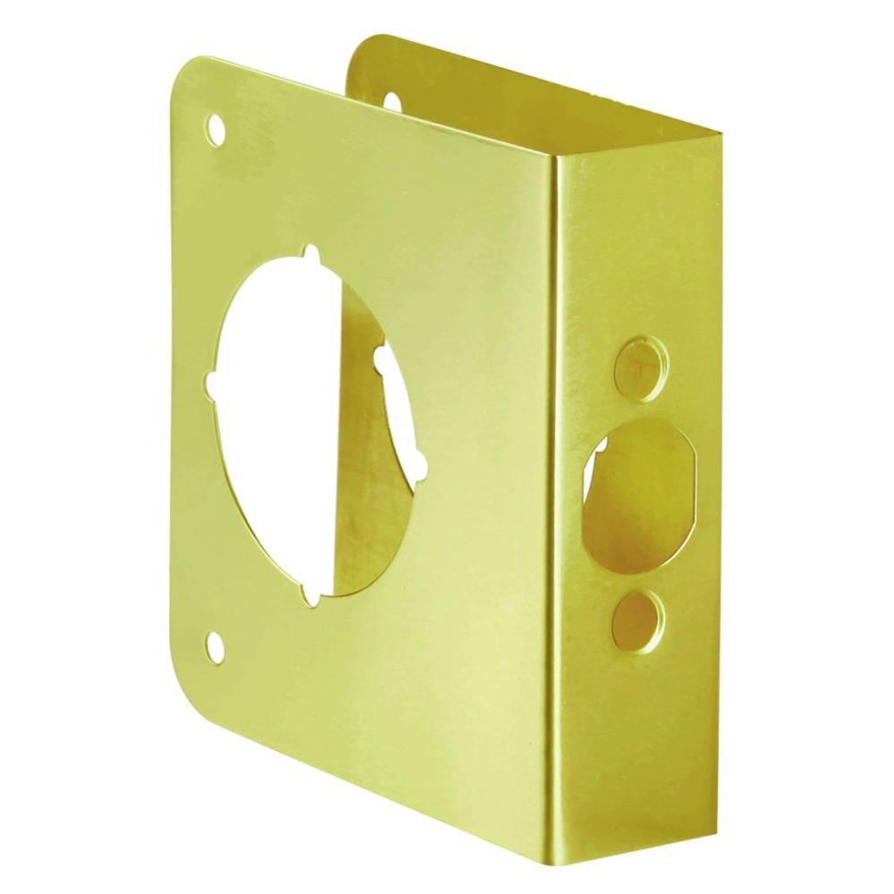 2-3/8 in. x 1-3/8 in. Solid Brass Door Reinforcer