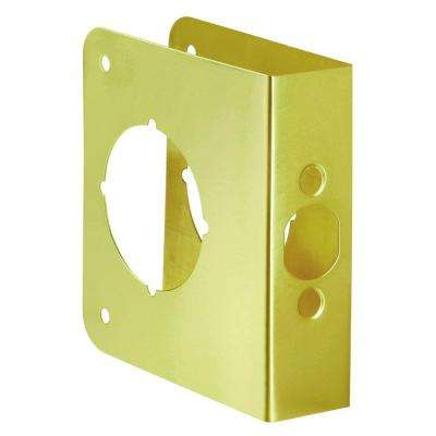 2-3/8 in. x 1-3/8 in. Solid Brass Door Reinforcer