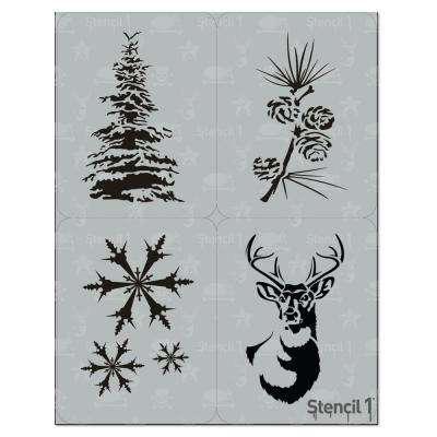 Winter Holiday Stencil Set (4-Pack)