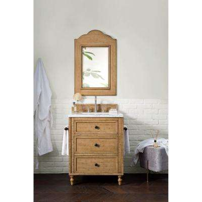 Copper Cove 26 in. Double Bath Vanity in Driftwood Patina with Solid Surface Vanity Top in Arctic Fall with White Basin