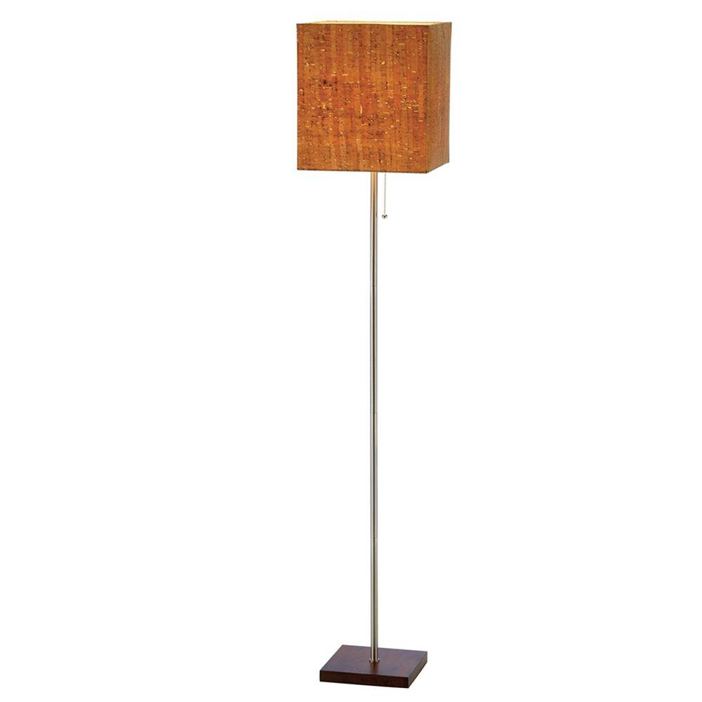 Attractive H Walnut Floor Lamp