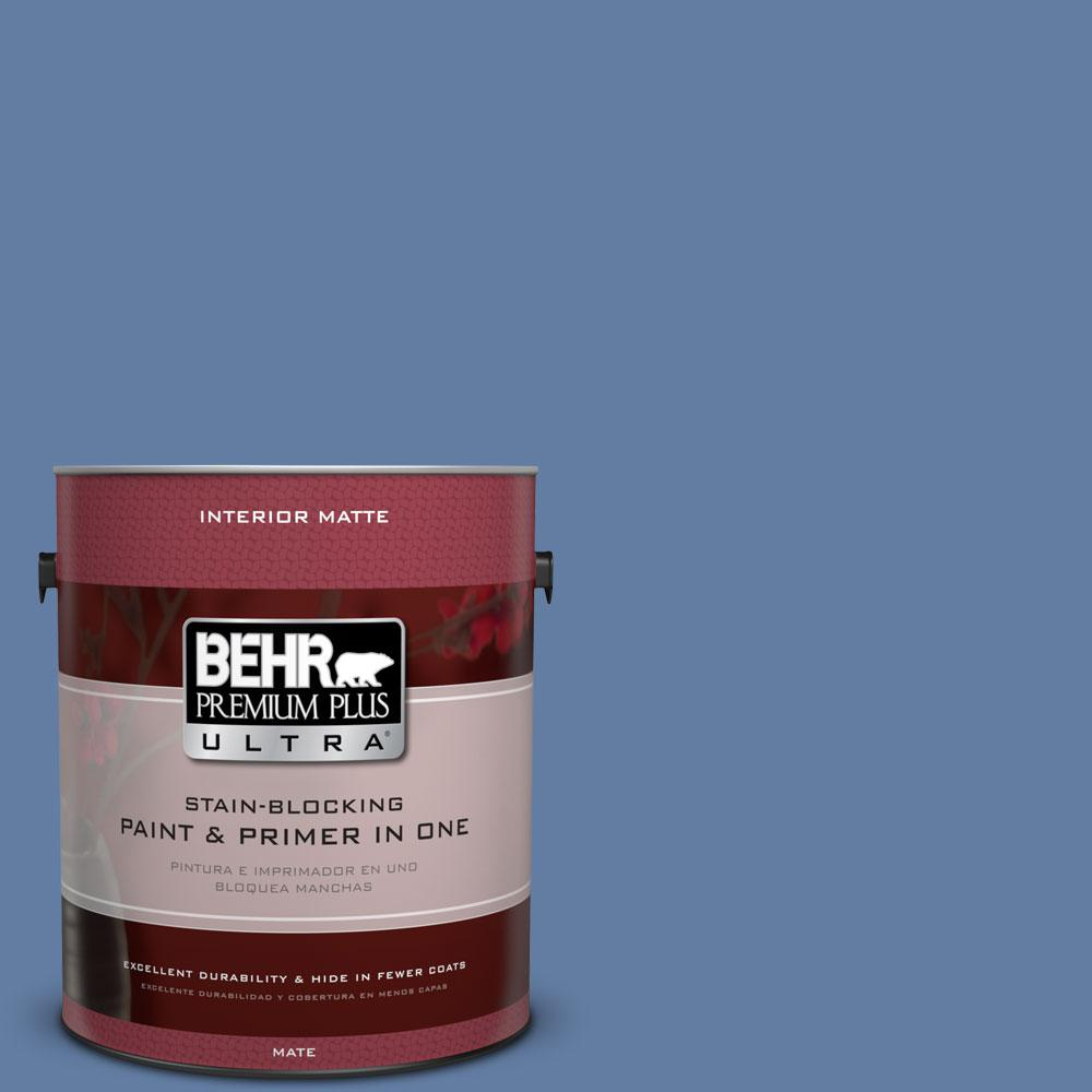 1 gal. #600D-6 Blueberry Patch Flat/Matte Interior Paint