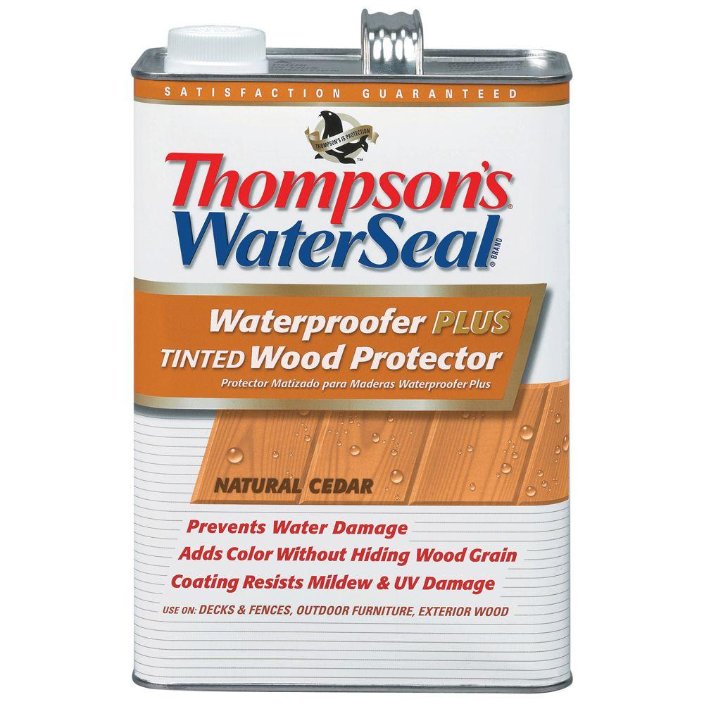 Thompson S Water Seal Waterproofer Plus Tinted Wood Protector Natural Cedar