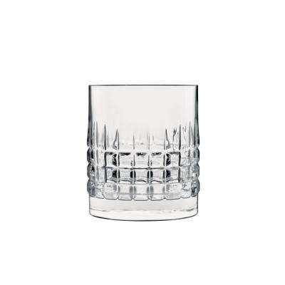 Mixology 12.75 fl. oz. Lead-Free Crystal Glass Charme DOF Drinking Glass (4-Pack)