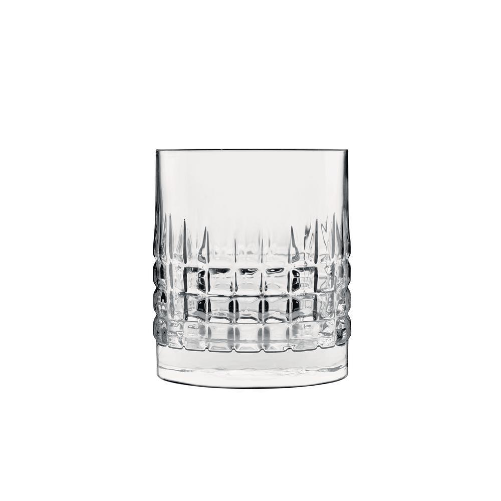 Mixology 12.75 fl. oz. Lead-Free Crystal Glass Charme DOF Drinking Glass (4-Pack)