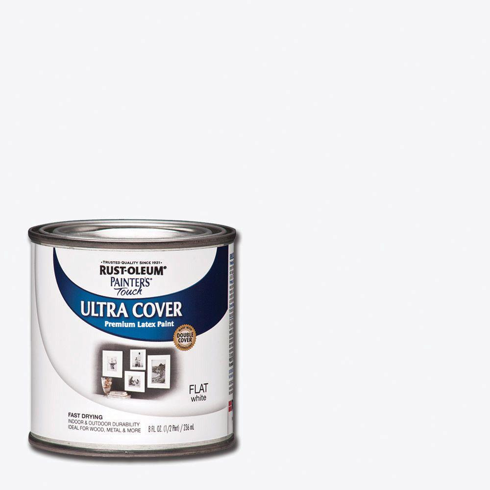 Rust Oleum Painter S Touch 8 Oz White Flat General Purpose Paint