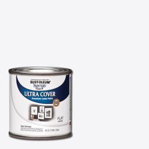 8 oz. White Flat General Purpose Paint