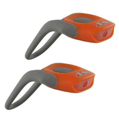 Cobra Bike Lights with White and Red LED in Orange