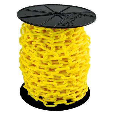 1.5 in. (#6, 38 mm) x 200 ft. Reel Yellow Plastic Chain
