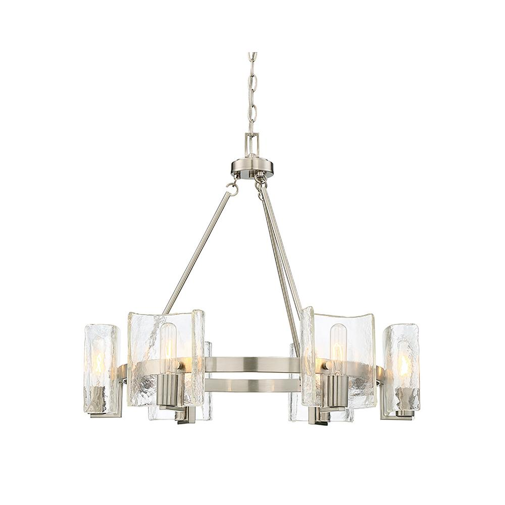 6-Light Satin Nickel Chandelier