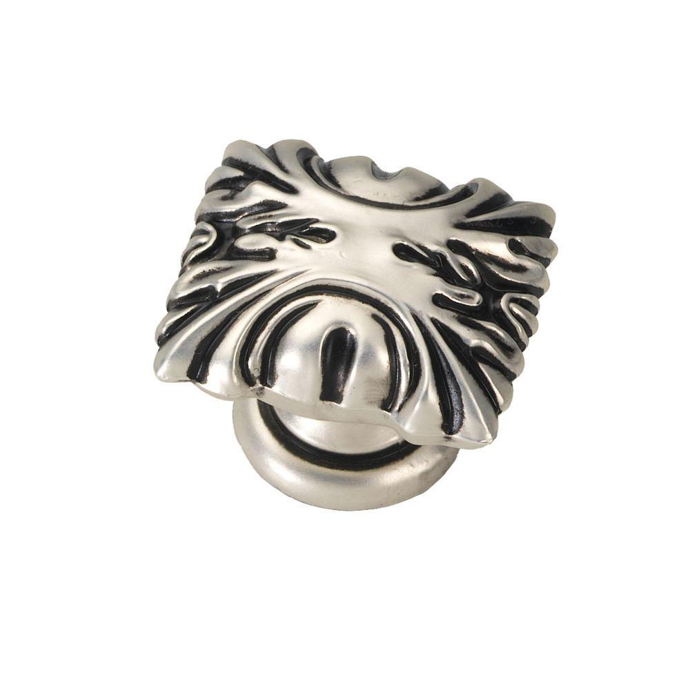 Ithaca 1-1/8 in. Satin Antique Silver Cabinet Knob