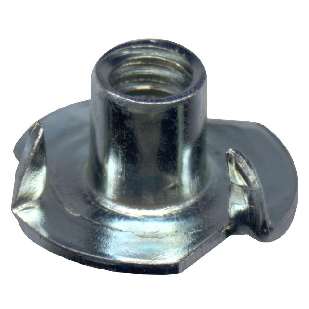 #8-32 Zinc-Plated Steel Coarse Tee Nuts (4 per Pack)