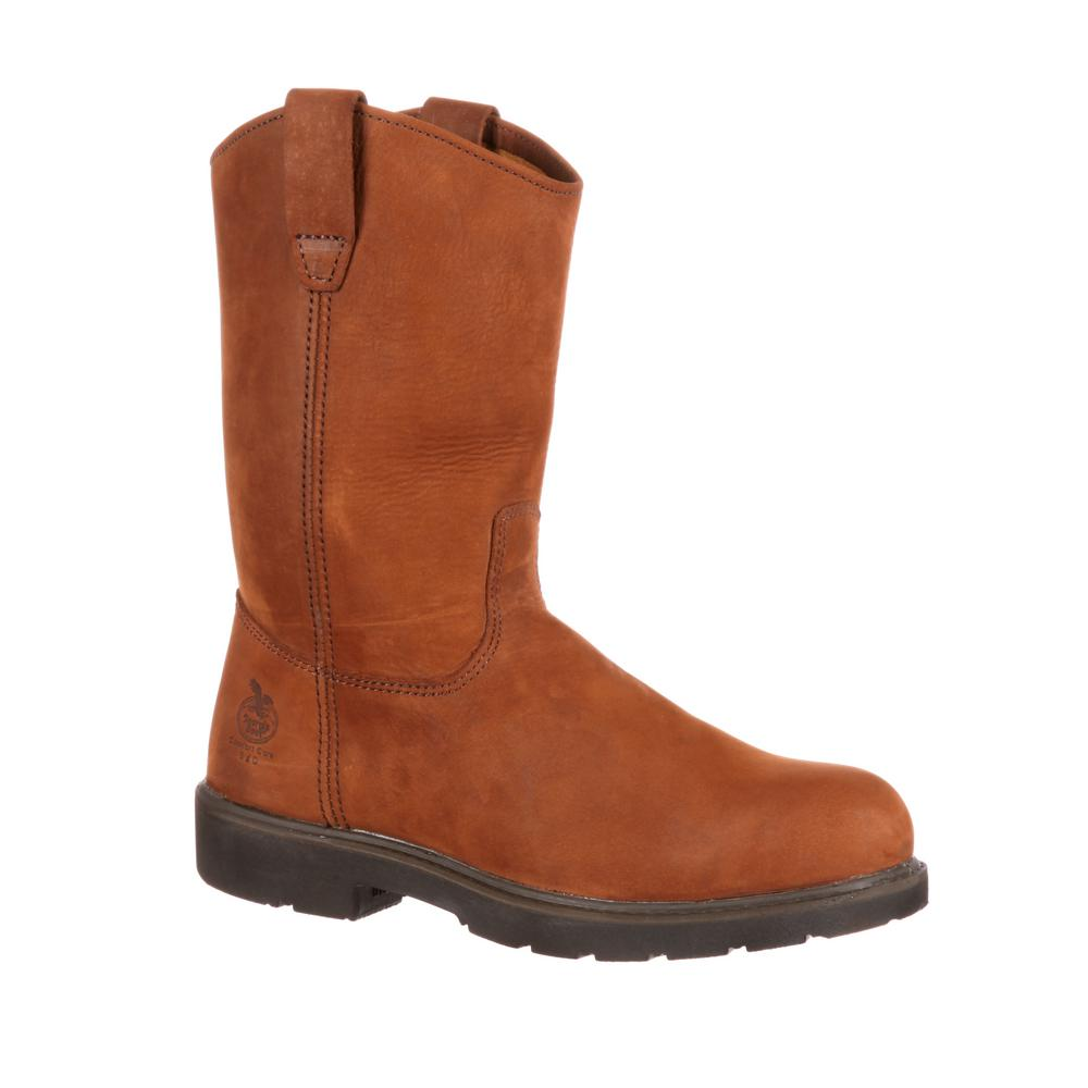 Georgia Boot Mens 6 Wedge Brown Work Boot 9.5M