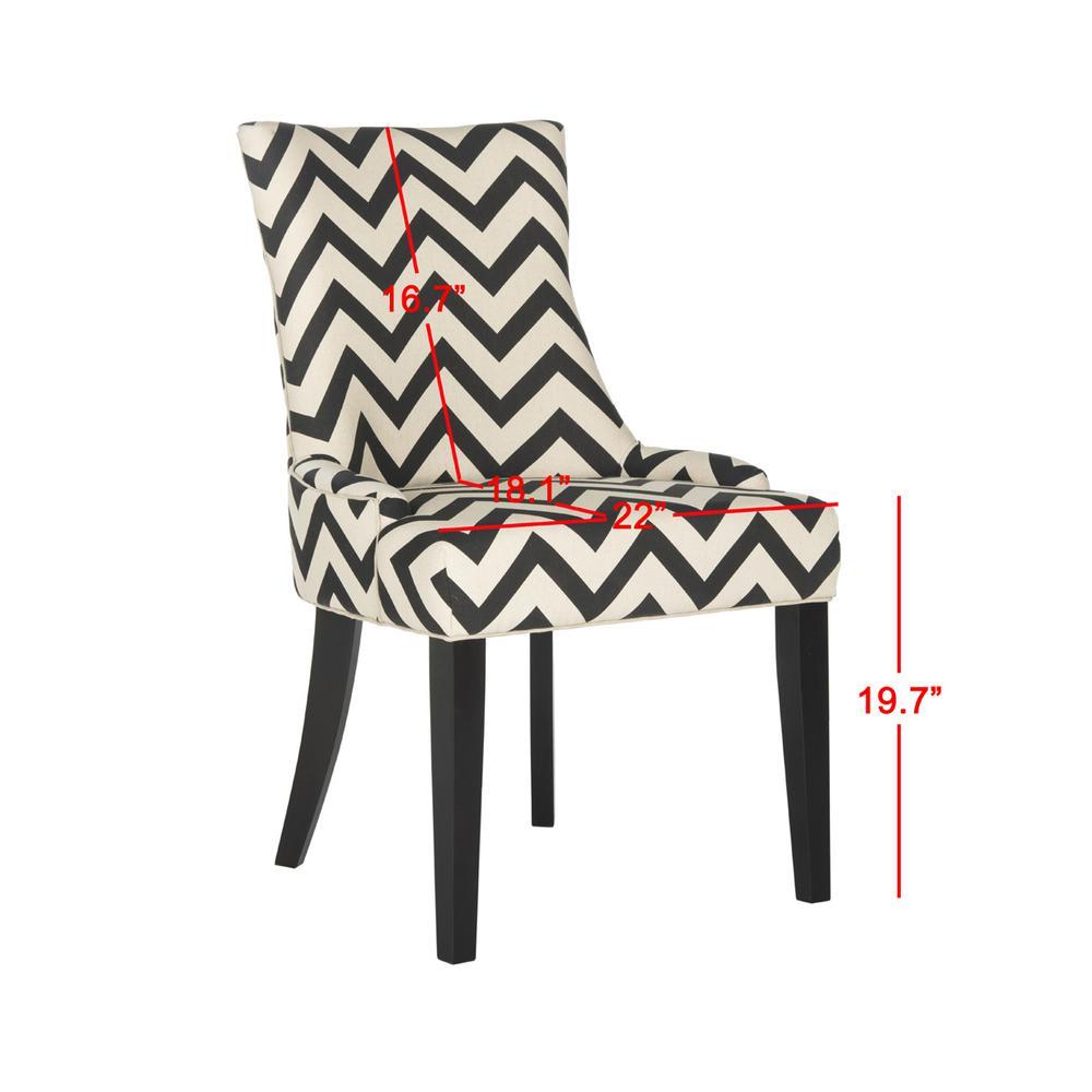 Tremendous Safavieh Lester Black White Espresso 19 In H Chevron Dining Bralicious Painted Fabric Chair Ideas Braliciousco