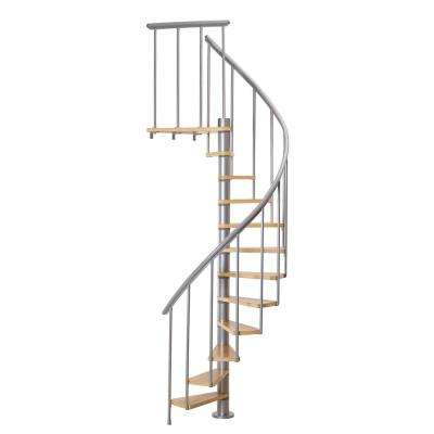 Calgary Grey 55 in. Dia Standard Stair Kit 110 in. High