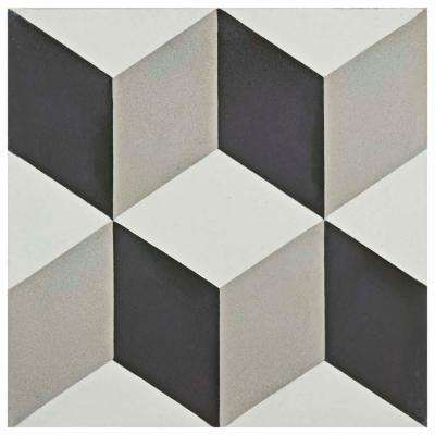 Cemento Lloyd Classic 7-7/8 in. x 7-7/8 in. Cement Handmade Floor and Wall Tile