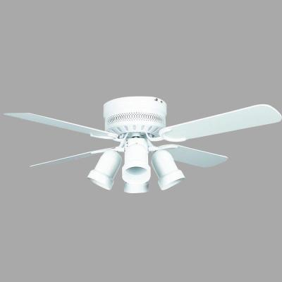 Hugger Series 42 in. Indoor White Ceiling Fan