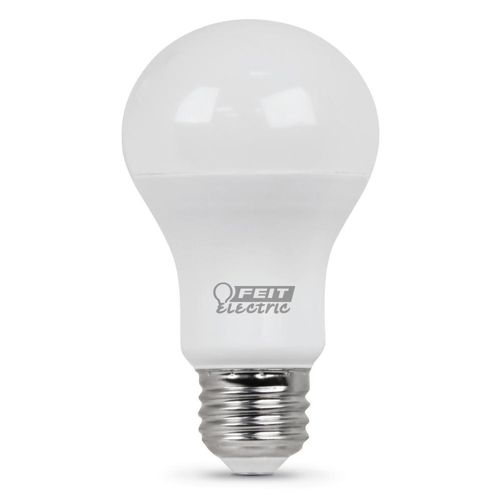 60W Equivalent Bright White A19 LED Medium Base Light Bulb (Case