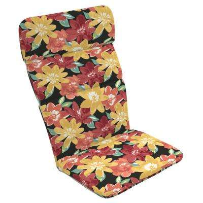 20 x 17 Ruby Abella Floral Reversible Outdoor Adirondack Chair Cushion