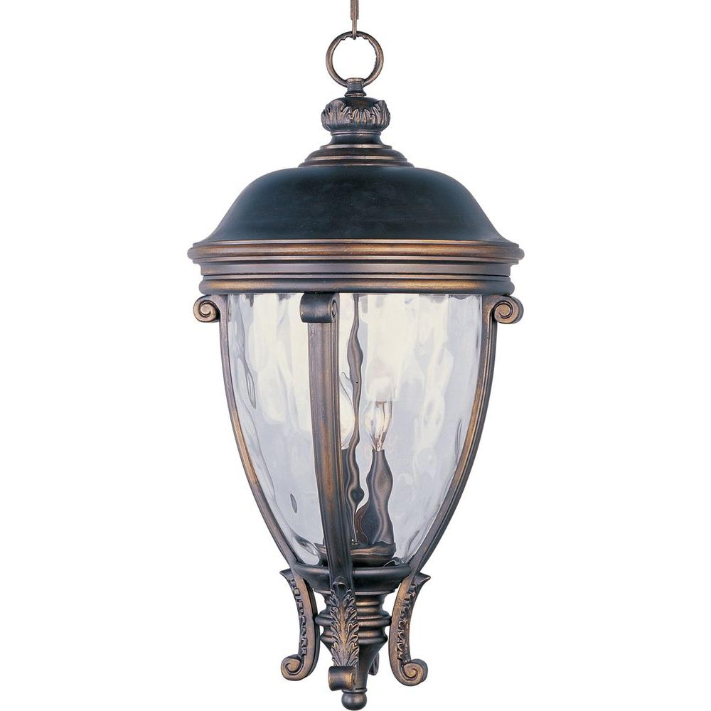 Camden VX 3-Light Golden Bronze Outdoor Hanging Lantern