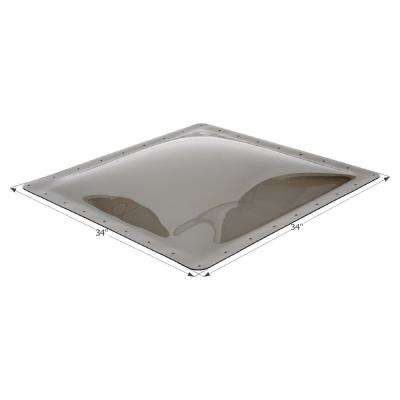 Standard RV 30 in. x 13 in. x 4 in. Skylight