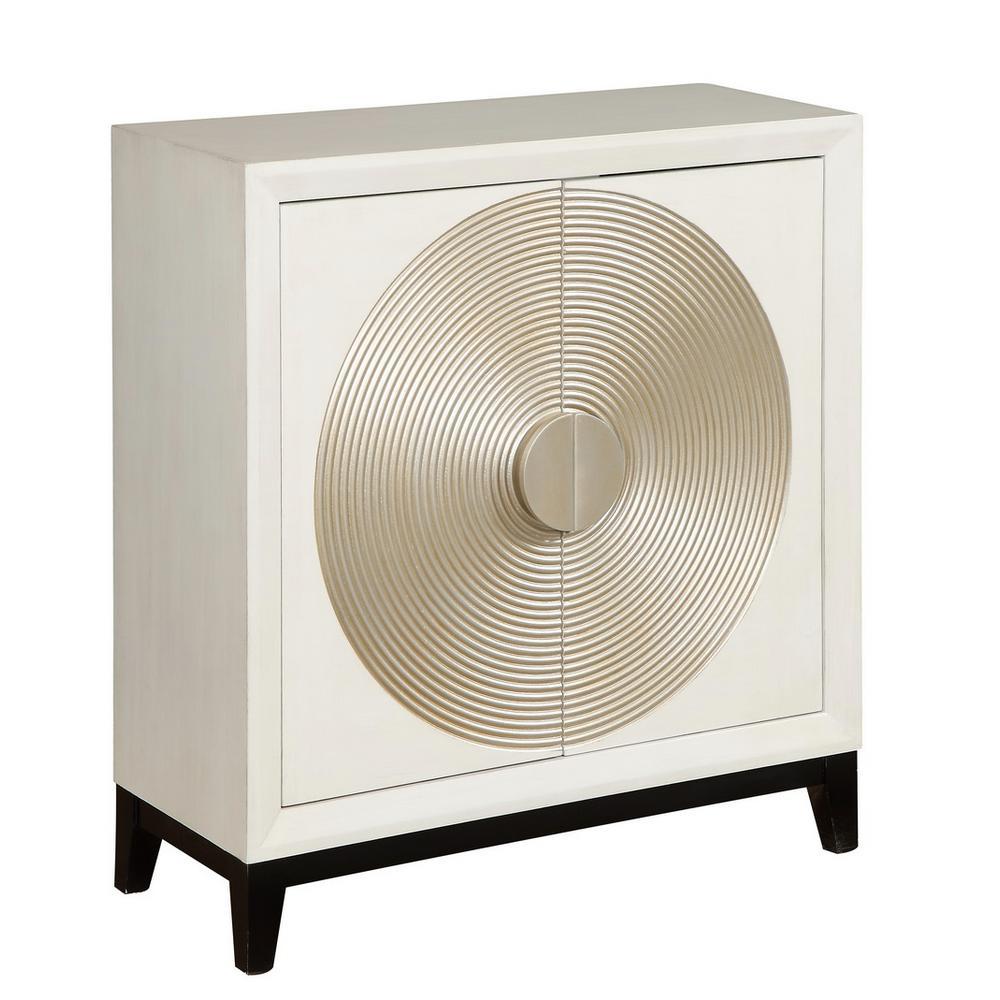 Grammercy White 2-Door Cabinet
