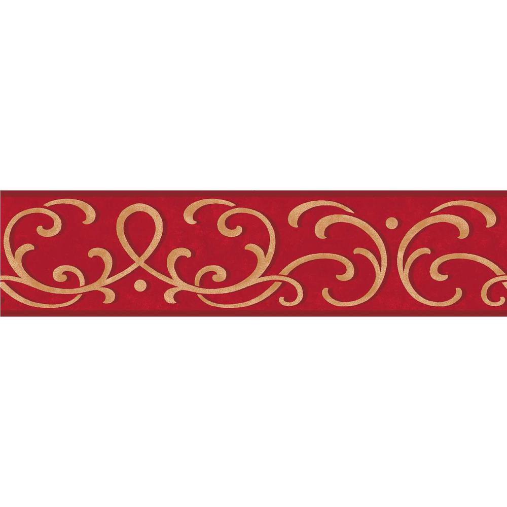 Carmen Scroll Peel And Stick Wallpaper Border