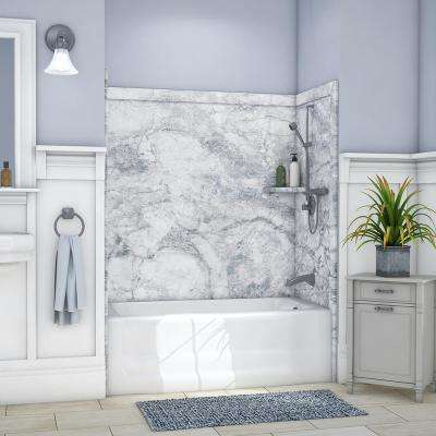 Gray Bathtub Walls Amp Surrounds Bathtubs The Home Depot