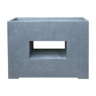 29.5 in. x 11 in. x 21.1 in. Granite Color Lightweight Concrete Slate Window Box Planter