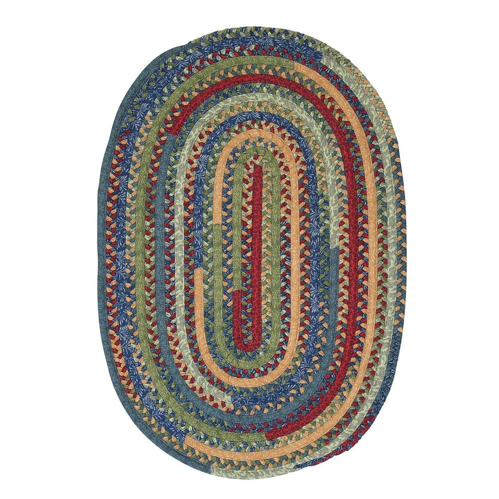 Hearth Seaglass 11 ft. x 14 ft. Oval Braided Area Rug