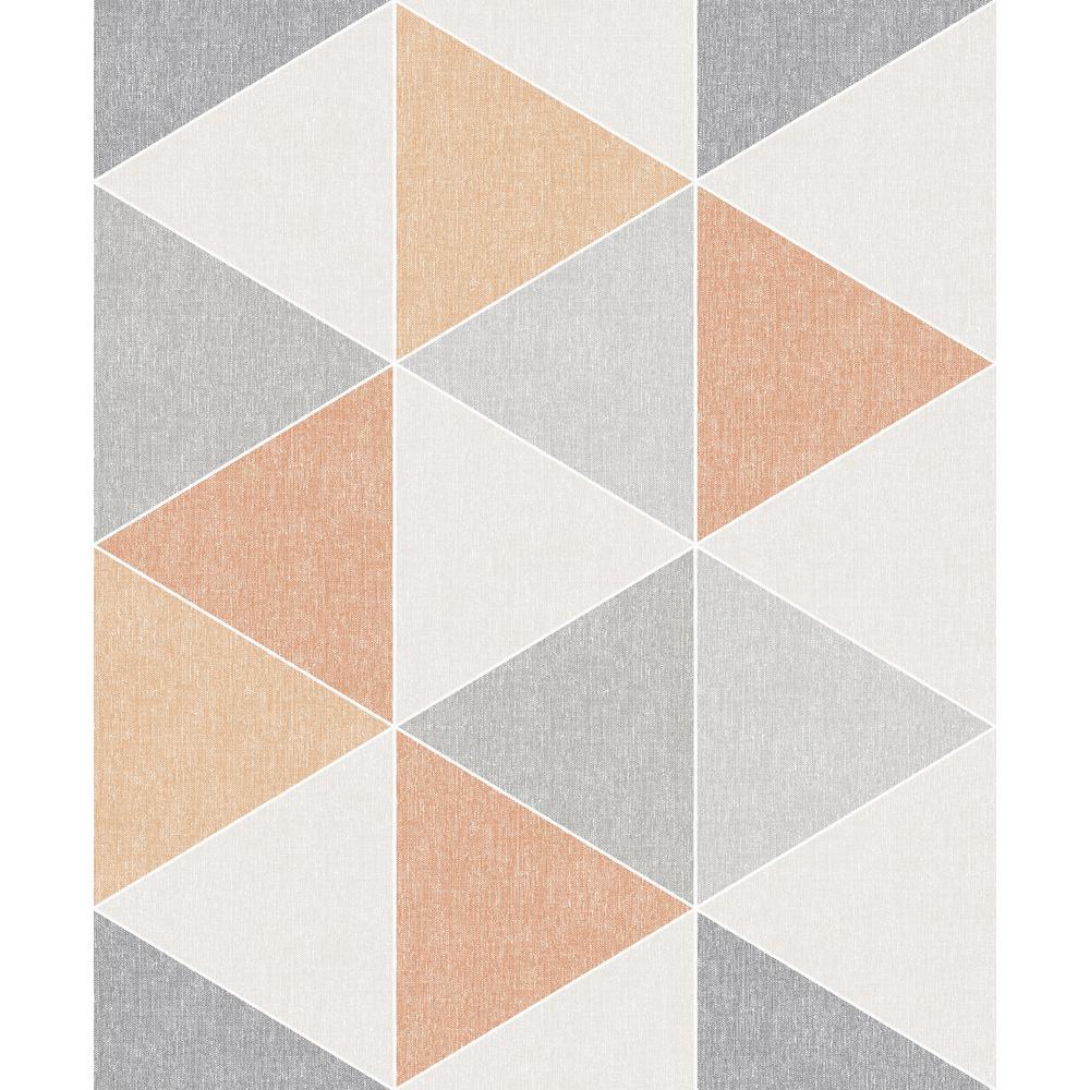 Terrific Scandi Triangle Orange Wallpaper Interior Design Ideas Skatsoteloinfo