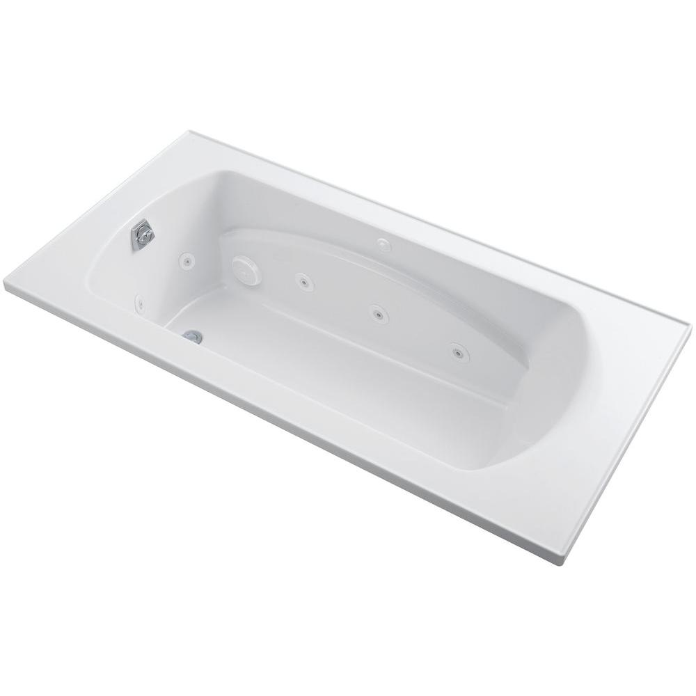 STERLING Lawson 6 ft. Whirlpool Tub with Reversible Drain in White
