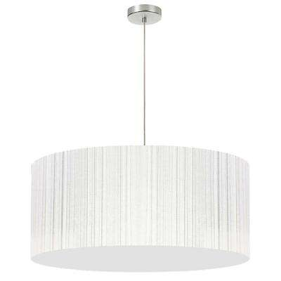 1-Light White Pendant with Electroplated Steel Shade
