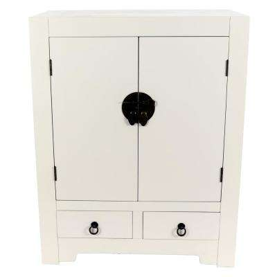 Keyes White Accent Cabinet