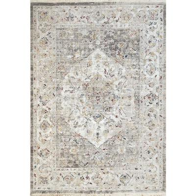 Mood Grey 5 ft. 3 in. x 7 ft. 7 in. Abstract Polyester Area Rug