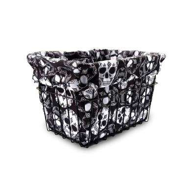 Sugar Skulls Bicycle Basket Liner