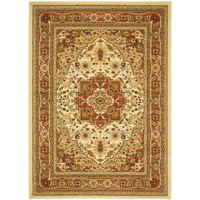 Lyndhurst Ivory/Rust 8 Ft. 11 In. X 12 Ft. Area Rug