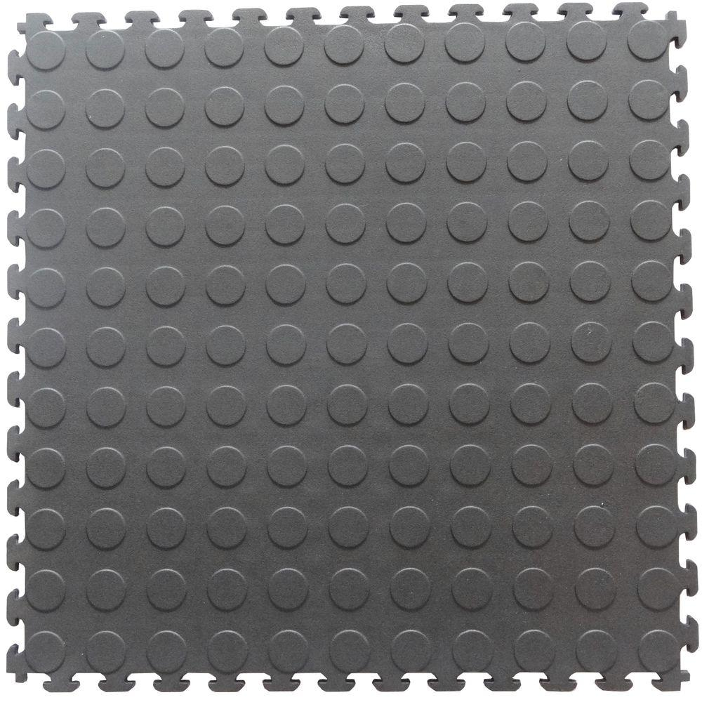 Click interlocking gymexcercise rubber tile the home depot dove gray pvc garage flooring dailygadgetfo Gallery