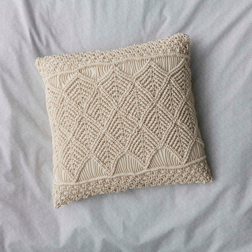 Cstudio Home By The Company Store 20 In X 20 In Natural Macrame