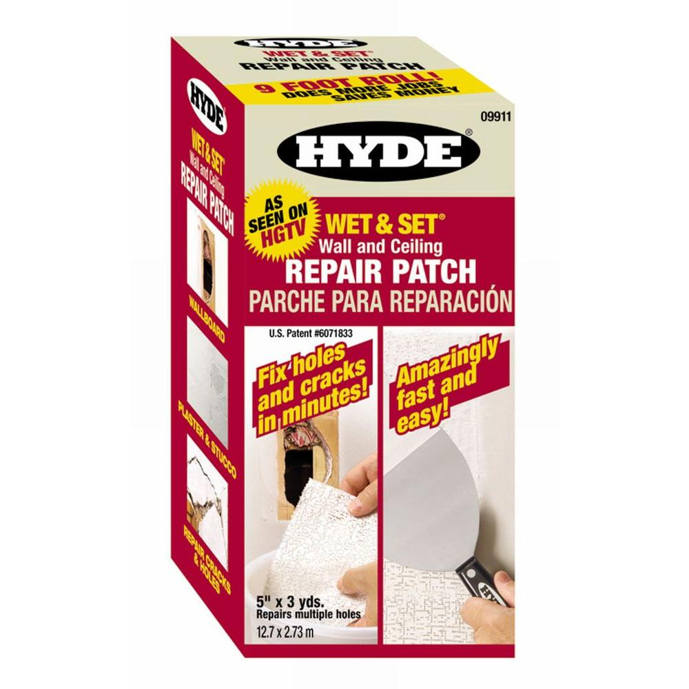 How to patch stucco cracks - Hyde Wet And Set Patented Wall And Ceiling Patch Roll 09911 The Home Depot