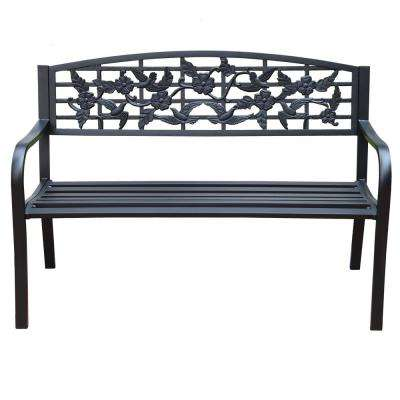 51 in. Steel Outdoor Patio Porch Chair Loveseat Bench