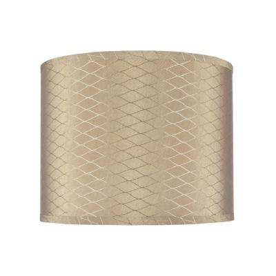 14 in. x 11 in. Light Brown Hardback Drum/Cylinder Lamp Shade