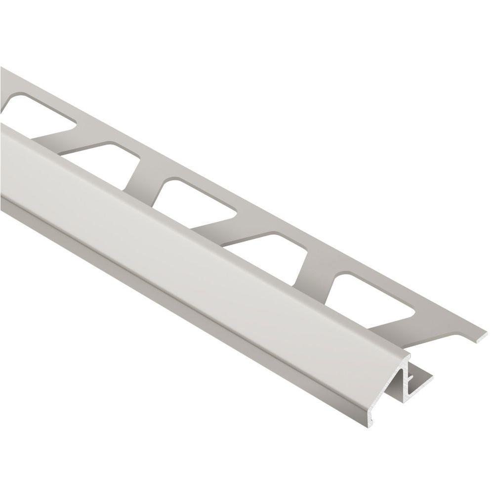 Reno-U Satin Nickel Anodized Aluminum 3/8 in. x 8 ft. 2-1/2