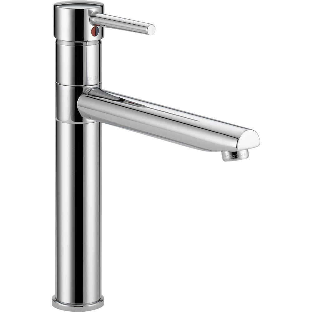 Delta Trinsic Single-Handle Kitchen Faucet in Chrome-1159LF - The ...